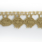 Dentelle 100 % coton beige - 2,2 cm