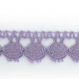 Dentelle 100 % coton lilas - 1,7 cm