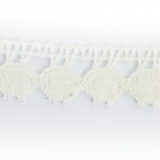 Dentelle 100 % coton bl. cassé - 2,2 cm