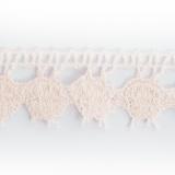 Dentelle 100% coton dragée - 2,2 cm