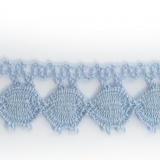 Dentelle 100 % coton ciel - 2,2 cm