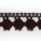 Dentelle 100 % coton nègre - 2,2 cm