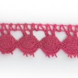 Dentelle 100 % coton rose foncé - 2,2 cm