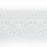 Dentelle 100 % coton blanc - 2,5 cm