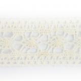 Dentelle 100 % coton écru - 3 cm