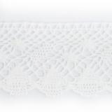 Dentelle 100 % coton blanc - 2,7 cm