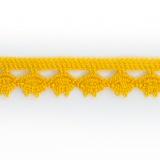 Dentelle 100 % coton - 1,4 cm jaune