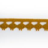Dentelle 100 % coton - 1,4 cm ocre
