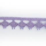 Dentelle 100 % coton - 1,4 cm lilas
