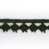 Dentelle 100 % coton - 1,4 cm kaki f.