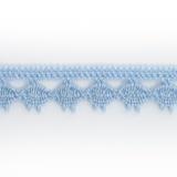 Dentelle 100 % coton - 1,4 cm ciel