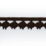 Dentelle 100 % coton - 1,4 cm nègre