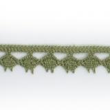 Dentelle 100 % coton - 1,4 cm kaki cl.