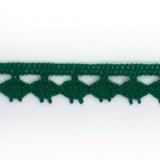 Dentelle 100 % coton - 1,4 cm émeraude