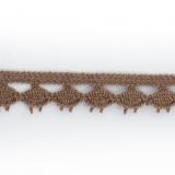 Dentelle 100 % coton - 1,4 cm biche