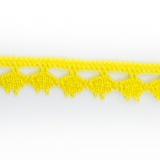 Dentelle 100 % coton - 1,4 cm jaune vif