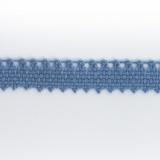 Dentelle 100%coton bleu - 0,9 cm