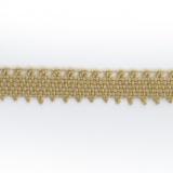 Dentelle 100 %coton beige clair - 0,9 cm