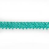 Dentelle 100 % coton turquoise - 0,9 cm