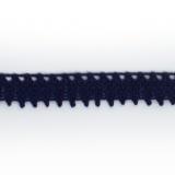 Dentelle 100 % coton marine - 0,9 cm