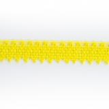 Dentelle 100 % coton jaune vif - 0,9 cm