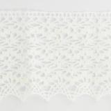 Dentelle 100 % coton blanc - 7,2 cm