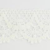 Dentelle 100 % coton blanc - 4,5 cm