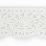 Dentelle 100%coton blanc 0,7 cm
