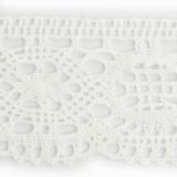 Dentelle 100 % coton blanc - 5,2 cm