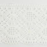 Dentelle 100%coton blanc 10 cm