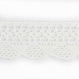Dentelle 100 % coton - 2,8 cm blanc