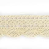 Dentelle 100 % coton - 2,8 cm écru