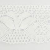 Dentelle 100 % coton blanc - 7 cm