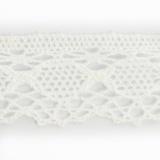 Dentelle 100%coton blanc 3,5 cm