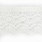 Dentelle 100%coton blanc 5 cm