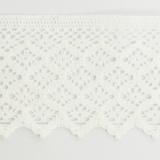 Dentelle 100%coton blanc 7,5 cm