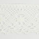 Dentelle 100%coton blanc 5,5 cm