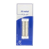 Fil métal gros 20m argent (inox) blister - 99