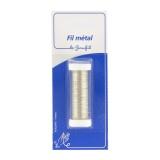 Fil métal fin 20m argent (inox) blister - 99