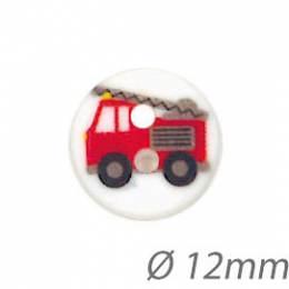 Boutons enfant camion de pompier - 1000