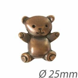Bouton enfant ours métal - 1000