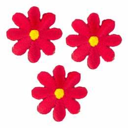 Thermocollants fleurs rouges - 1000