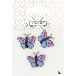Thermocollants papillons bleus - 1000