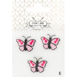 Thermocollants papillons roses - 1000