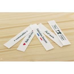 Etiquettes imprimées à coudre x 5 logos - 1000
