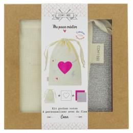 """Kit customise ton pochon """"cœur"""" - 1000"""