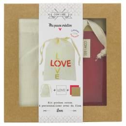 "Kit customise ton pochon ""love"" - 1000"