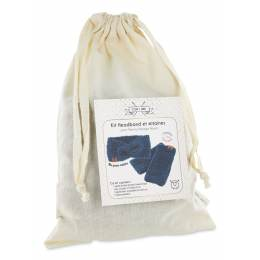 Kit tricot bandeau & mitaines de laine Com'1 Idée - 1000
