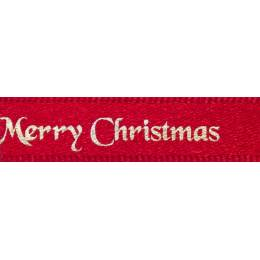 Ruban Joyeux Noël red 10mm - 101