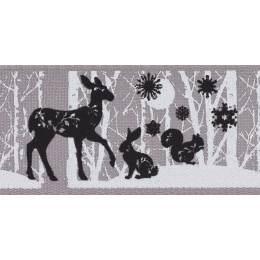 Ruban woodland animals grey 25mm - 101